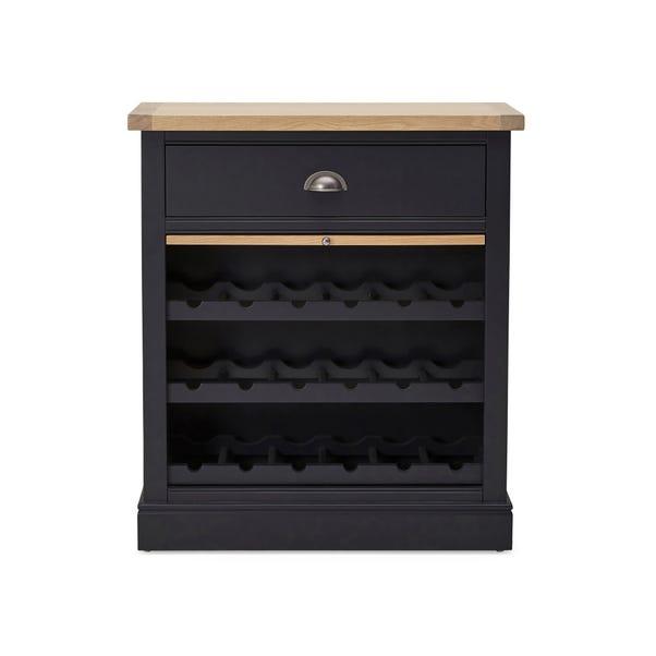 Compton Charcoal Wine Cabinet Charcoal