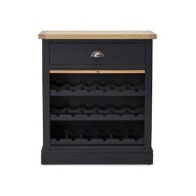 Compton Charcoal Wine Cabinet