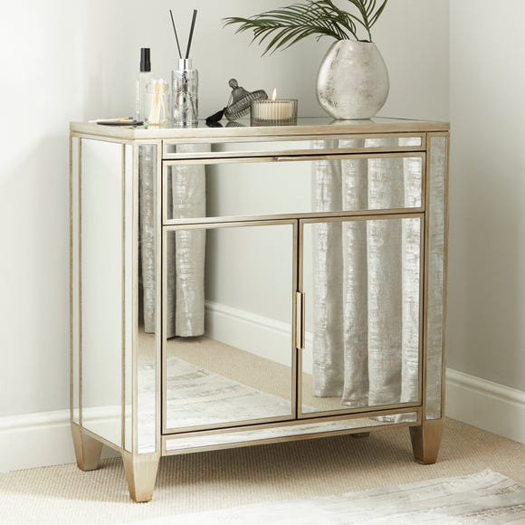 Fitzgerald Mirrored Small Sideboard Silver