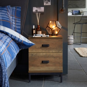 Fulton 2 Drawer Bedside Table