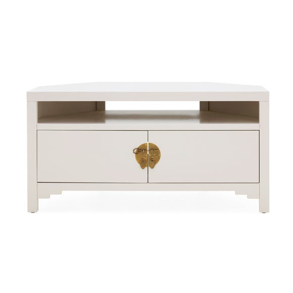 Hanna Oyster Corner TV Stand Oyster (Grey)