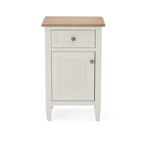 Isabelle Cane Small Cabinet Ivory