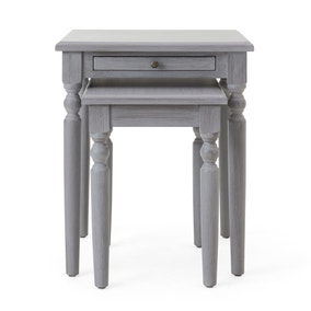 Lucy Cane Grey Nest of Tables