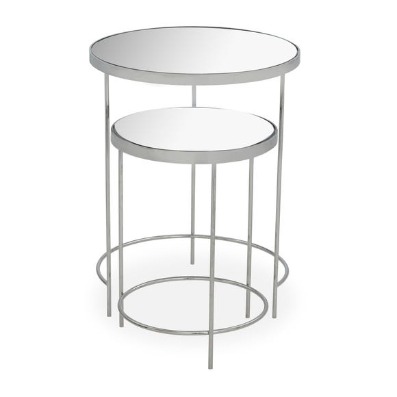 Ritz Chrome Mirrored Nest of Tables