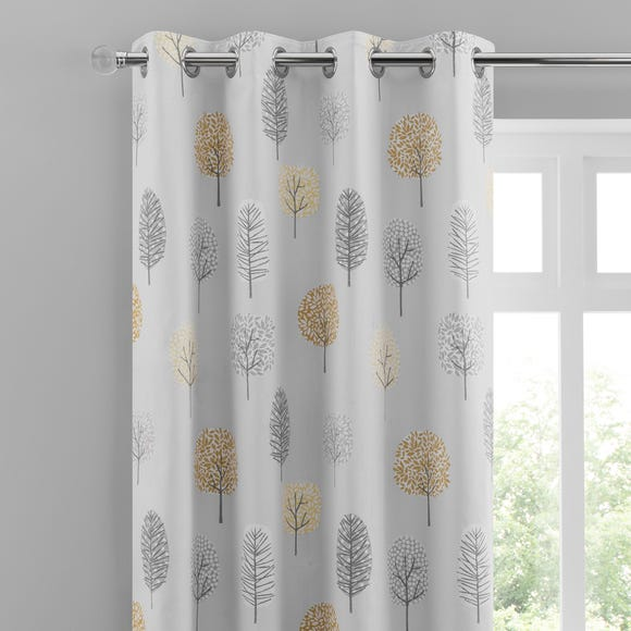 Sweet Trees Ochre Eyelet Curtains  undefined