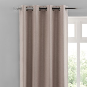 Luna Brushed Pebble Blackout Eyelet Curtains