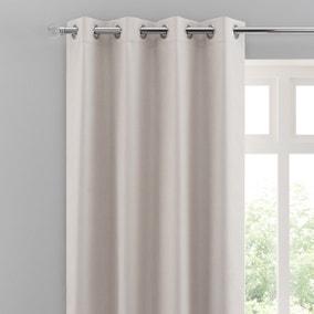 Solar Ivory Blackout Eyelet Curtains