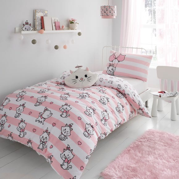 Disney Marie Duvet Cover and Pillowcase Set Pink undefined