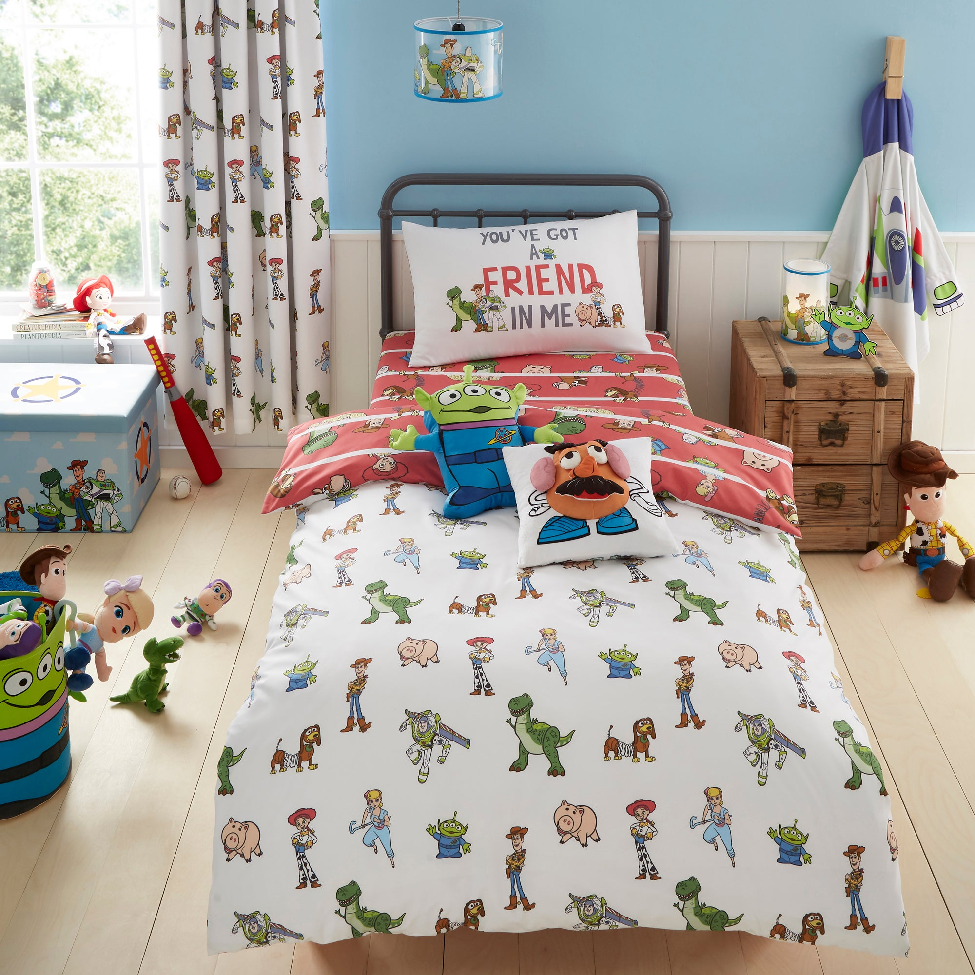 Photo of Disney toy story cot bed duvet cover and pillowcase set white