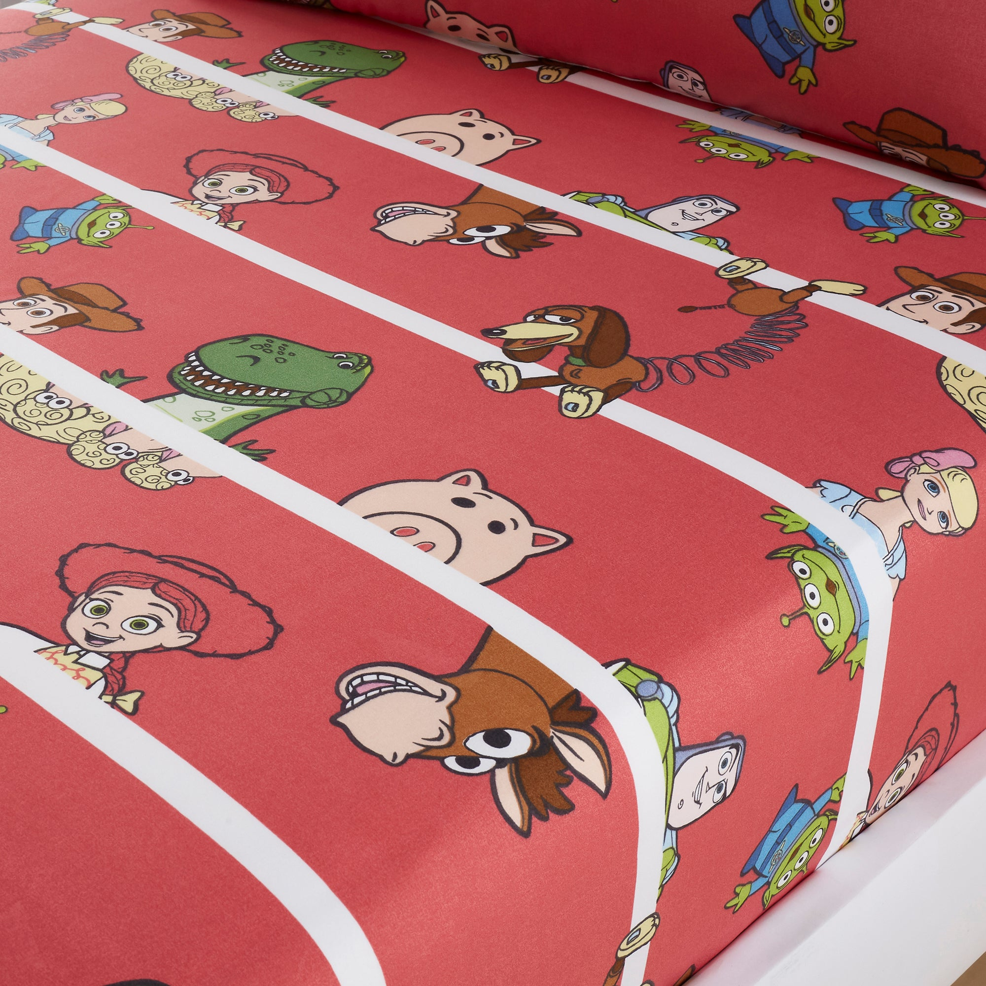 Photo of Disney toy story cot bed fitted sheet red