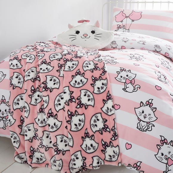 Disney Marie Fleece Throw Pink