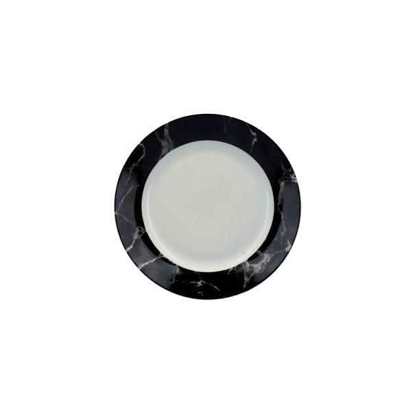 Marble Black Effect Side Plate Black