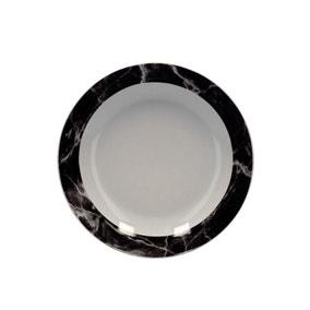 Marble Black Effect Pasta Bowl