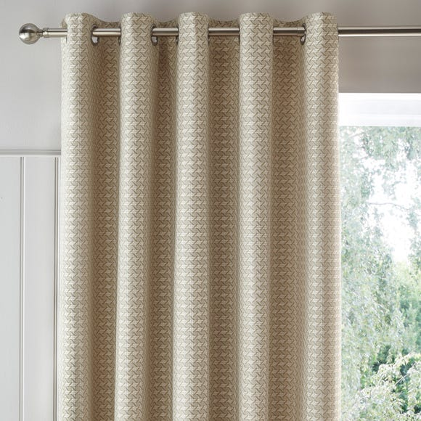 Lucy Cane Cream Jacquard Eyelet Curtains  undefined