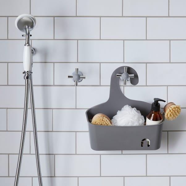 Grey Large Shower Caddy Grey