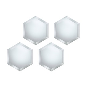 Pack of 4 Hexagonal Mirrors