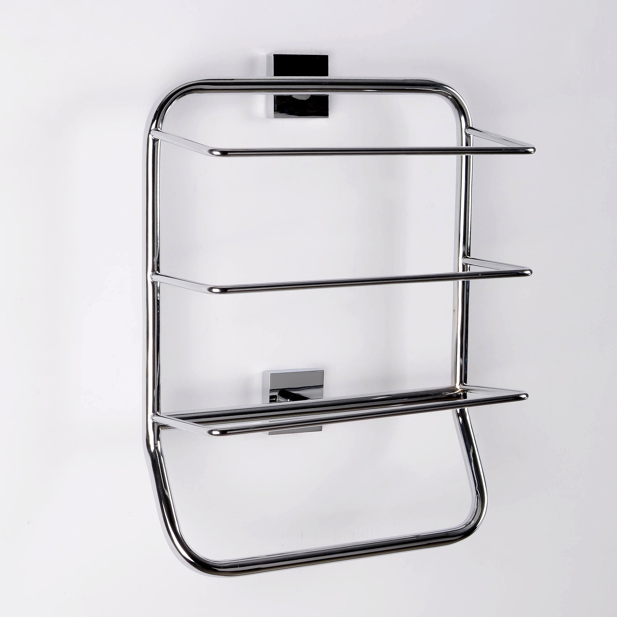 Dunelm Square Chrome Towel Rack Chrome |