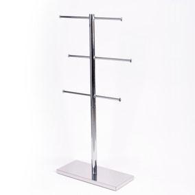 Free Standing Chrome Towel Rail