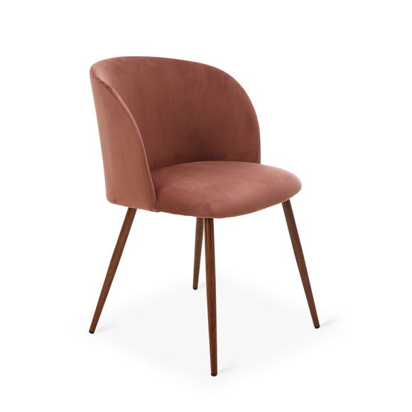 Celia Chair Rose Velvet Pink Blush