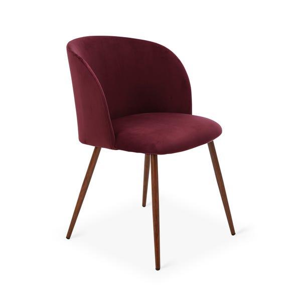 Celia Chair Claret Velvet Claret