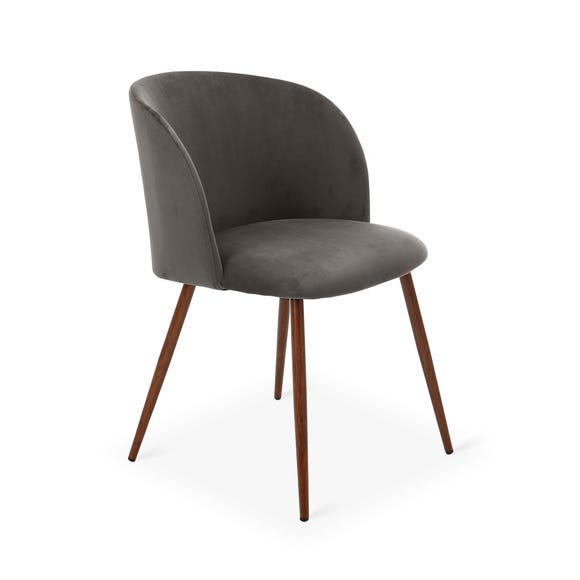 Celia Chair Grey Velvet Grey