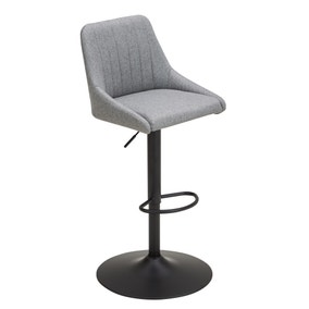 Kenton Bar Stool Grey Herringbone