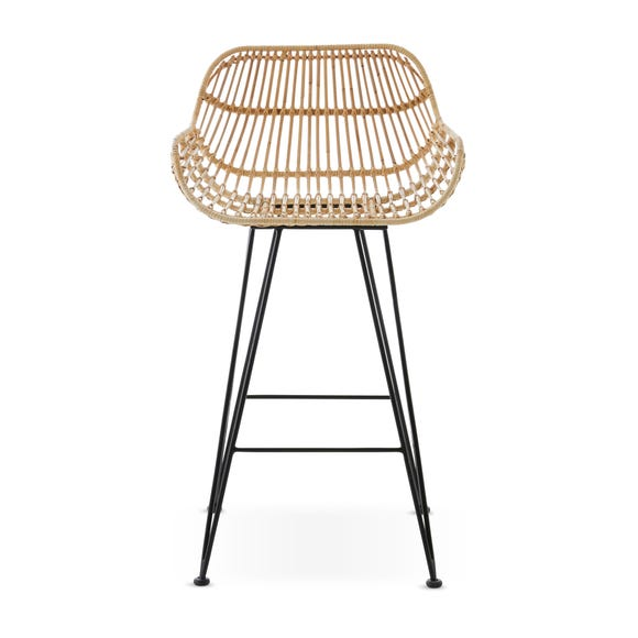 Nirvana Bar Stool Natural Rattan Natural