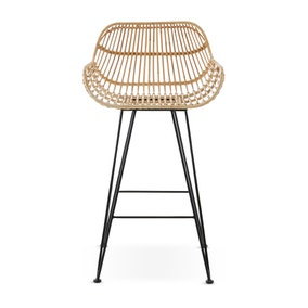 Nirvana Bar Stool Natural Rattan