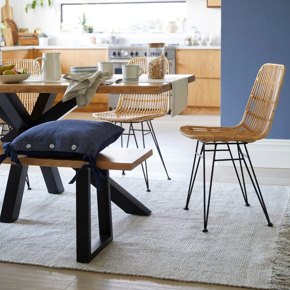Pax Set of 2 Rattan Dining Chairs Natural