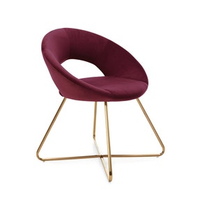 Stella Chair Claret Velvet