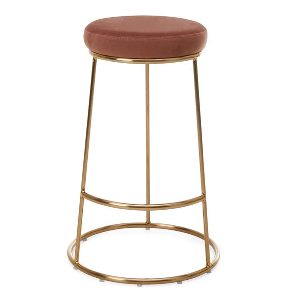 Zeta Bar Stool Rose Velvet