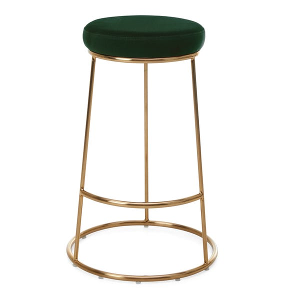 Zeta Bar Stool Bottle Green Velvet Bottle (Green)