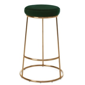 Zeta Bar Stool Bottle Green Velvet