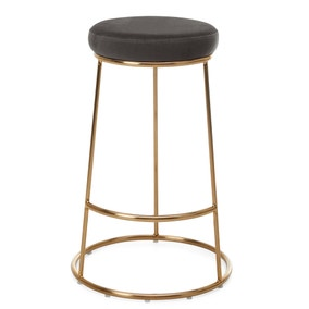 Zeta Bar Stool Grey Velvet