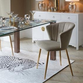 Kendall Chair Mink Velvet