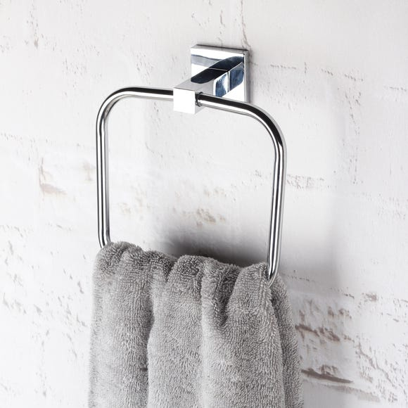 Square Wall Mounted Towel Ring Dunelm