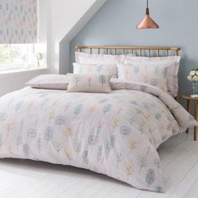 Sweet Trees Natural Reversible Duvet Cover and Pillowcase Set