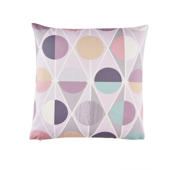 Geometric Circles Pink Cushion Cover Pink