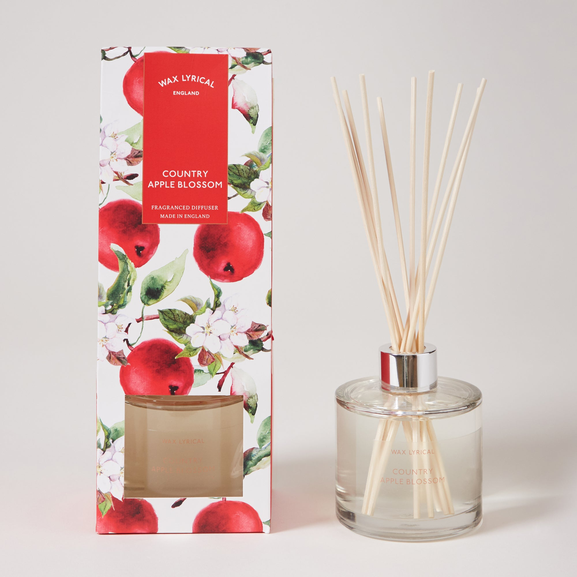 Wax Lyrical Destinations Apple Blossom 200ml Reed Diffuser Red