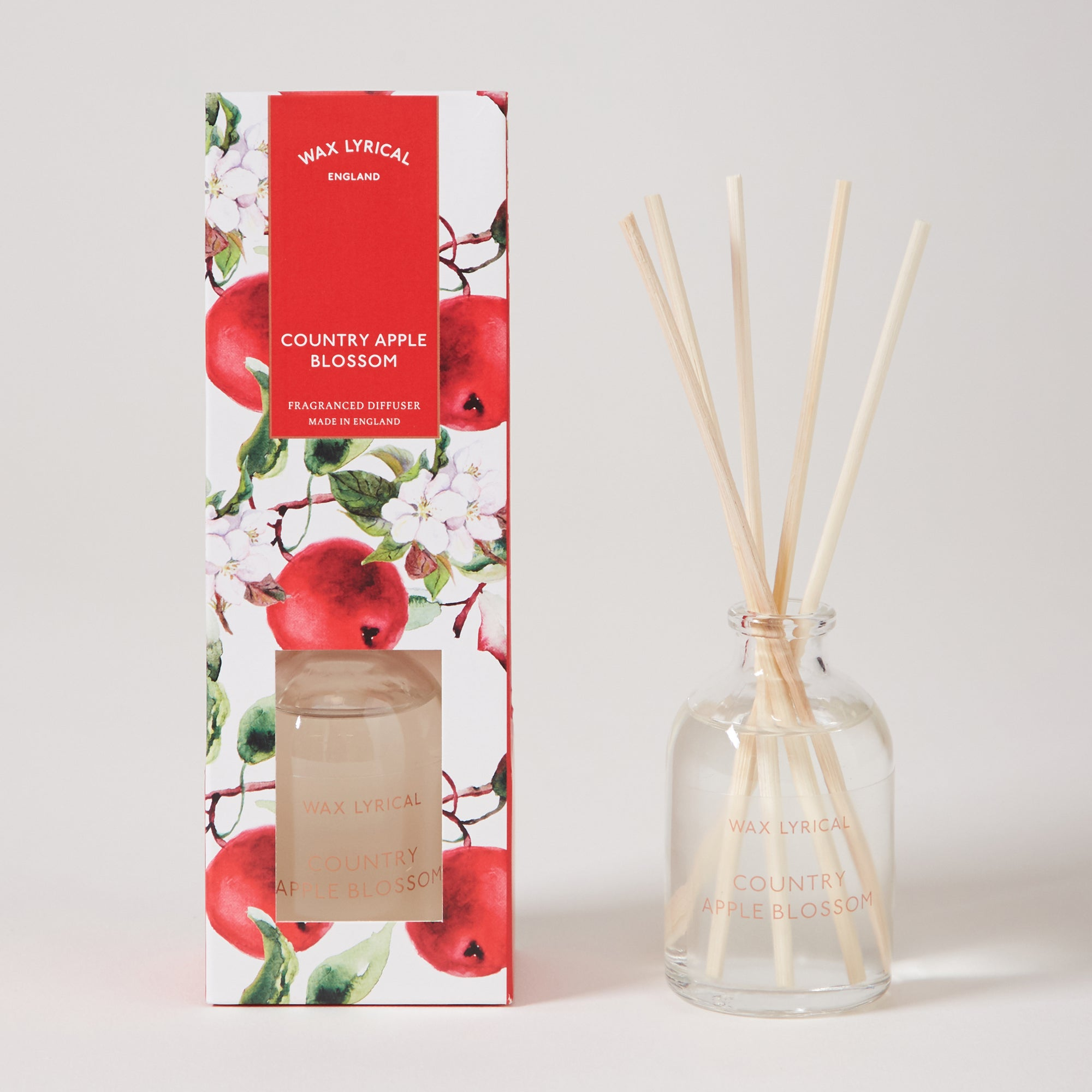 Click to view product details and reviews for Wax Lyrical Destinations Apple Blossom 100ml Reed Diffuser Red.