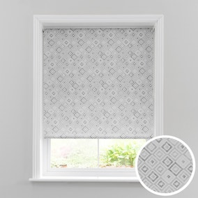 Diamonds Grey Daylight Roller Blind
