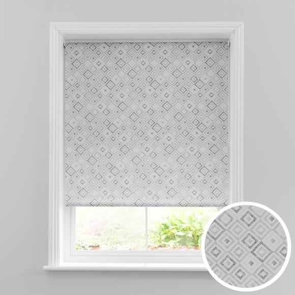 Diamonds Grey Daylight Roller Blind  undefined