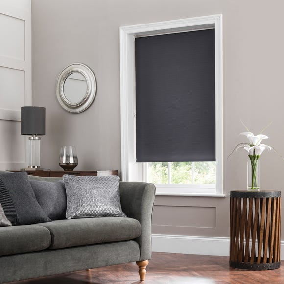 Larson Dark Grey Blackout Roller Blind  undefined