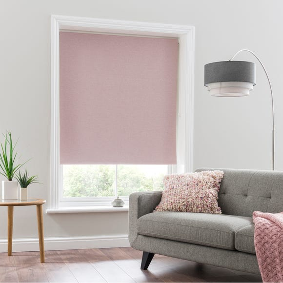 Luna Blush Blackout Roller Blind Blush undefined