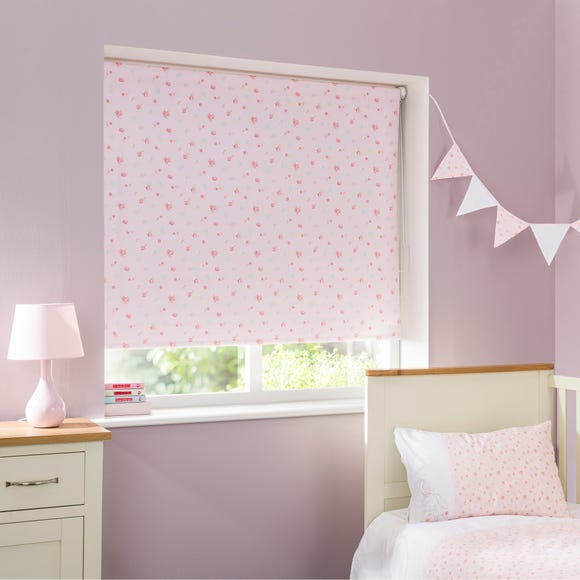 Pretty Little Bunny Floral Cordless Blackout Roller Blind  undefined