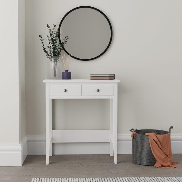 Lynton Compact White Dressing Desk