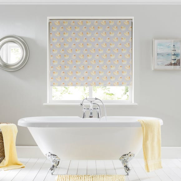 Rubber Ducks Grey Moisture Resistant Blackout Roller Blind  undefined