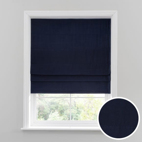 Corduroy Navy Roman Blind Navy undefined