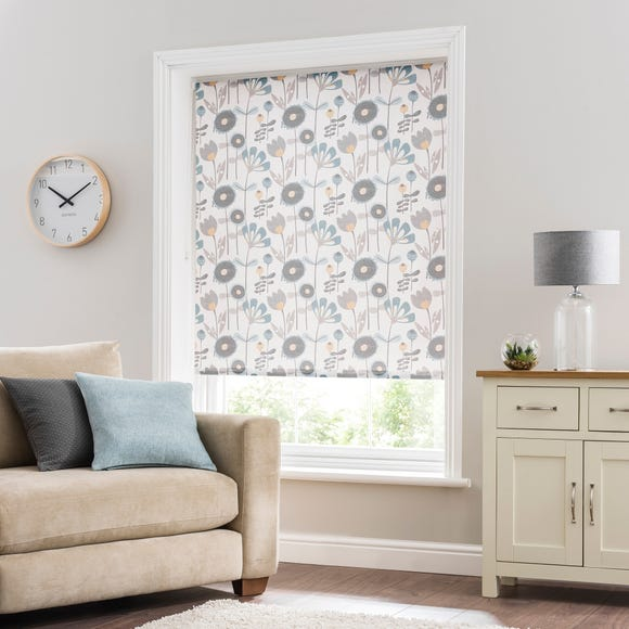 Anderson Floral Teal Daylight Roller Blind  undefined