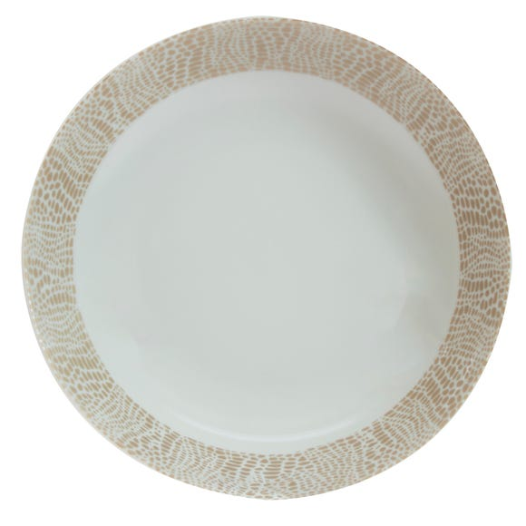 Mock Croc Effect Champagne Pasta Bowl Champagne
